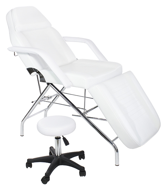 basic facial and massage bed/table with free hydraulic stool, non