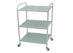 Glass Cart with Three Shelves