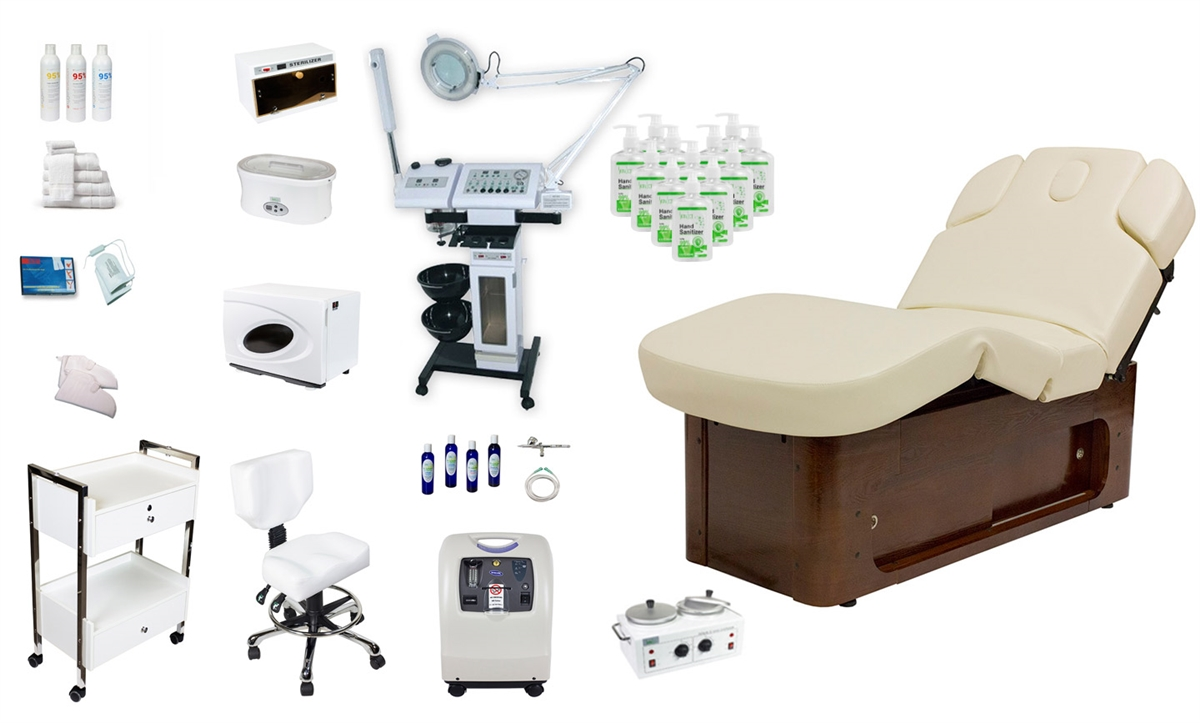 Lux iii spa equipment package luxurious day spa equipment for A and s salon supplies