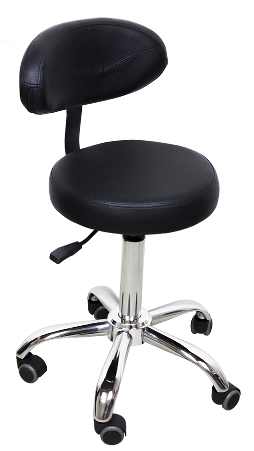 Hydraulic Stool With Curve Backrest Beauty Stools Day