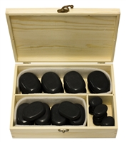 36 Piece Basalt Lava High Polish Hot Stone Massage Kit