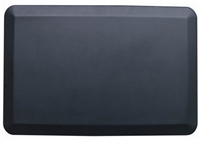 "Black Rectangular Anti-Fatigue Floor Mat - 30.5"" x 20"""
