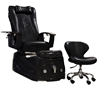 Capri Pedicure Spa Chair in Black