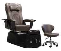 Capri Pedicure Spa Chair in Espresso